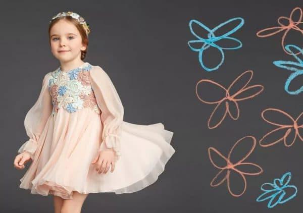 Праздничное платье пудренно розового цвета