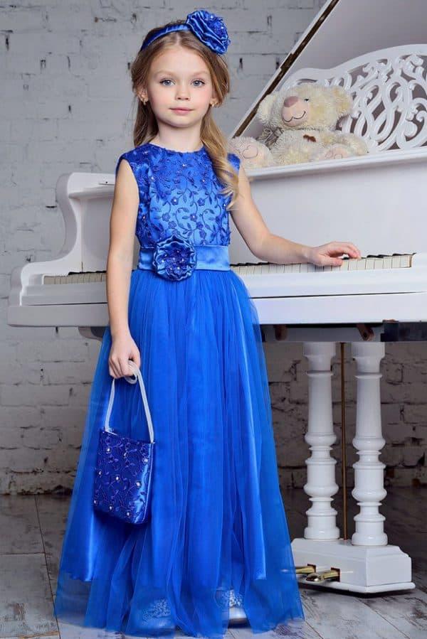Длинное вечернее платье для девочек