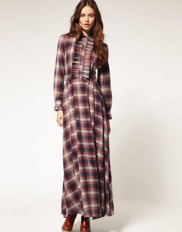Длинное платье-рубашка от Fred Perry