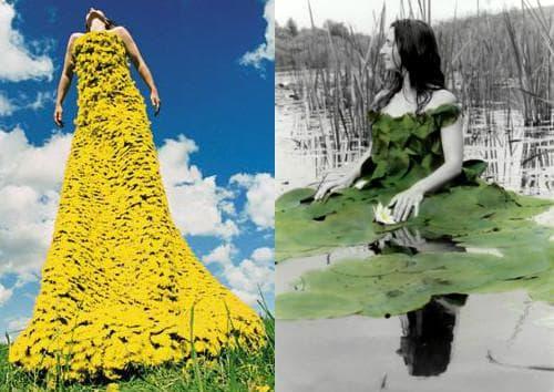 Цветочные платья от Робин Баркус