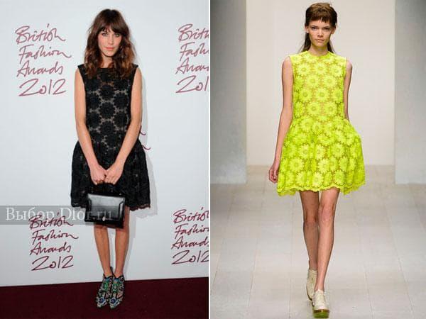 Фото платьев с цветочным кружевом от Simone Rocha