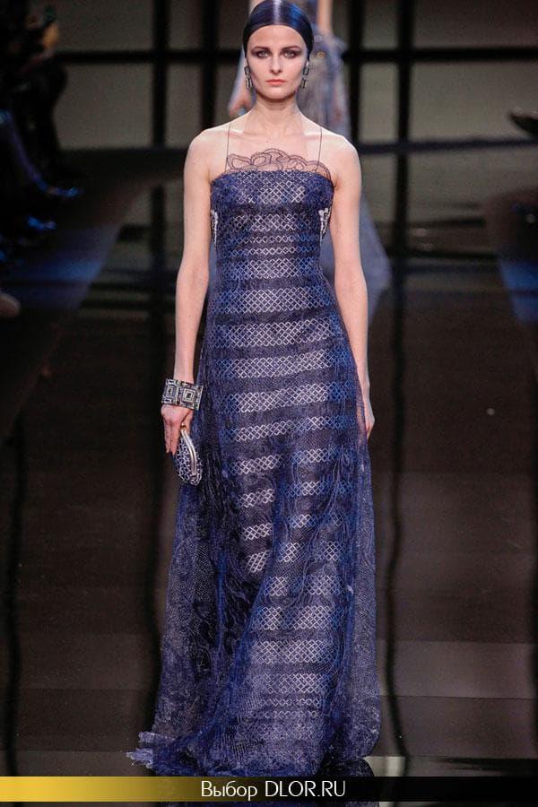 Длинное нарядное платье в горизонтальную полоску