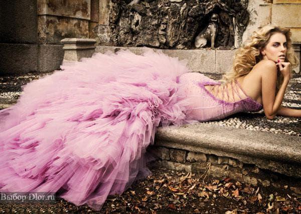 Фото розового платья