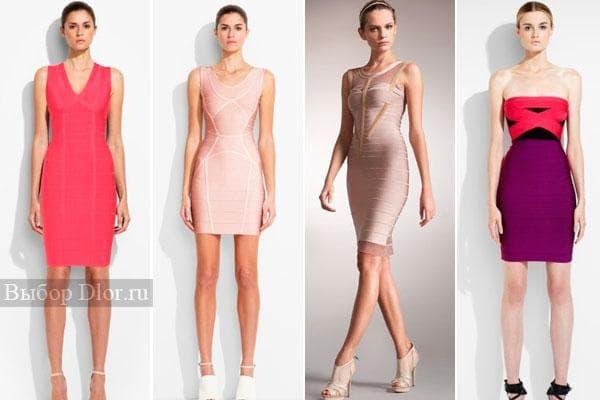 Модная коллекция платьев Herve Leger 2012