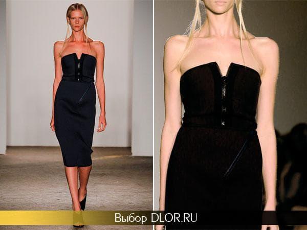 Черное платье-футляр от Zero + Maria Cornejo