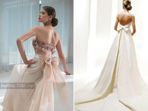 Свадебные платья с бантом от Anna Bogdan