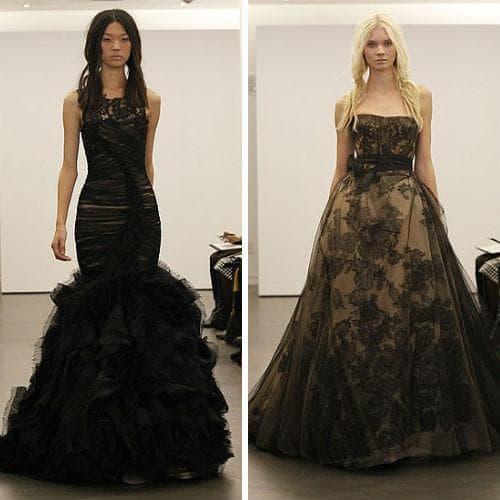 Черные платья от Vera Wang