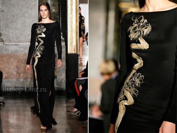 Черное платье от Emilio Pucci