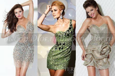 Фото блестящих платьев