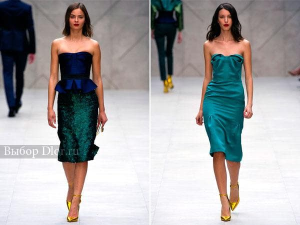 Строгие платья от Burberry Prorsum