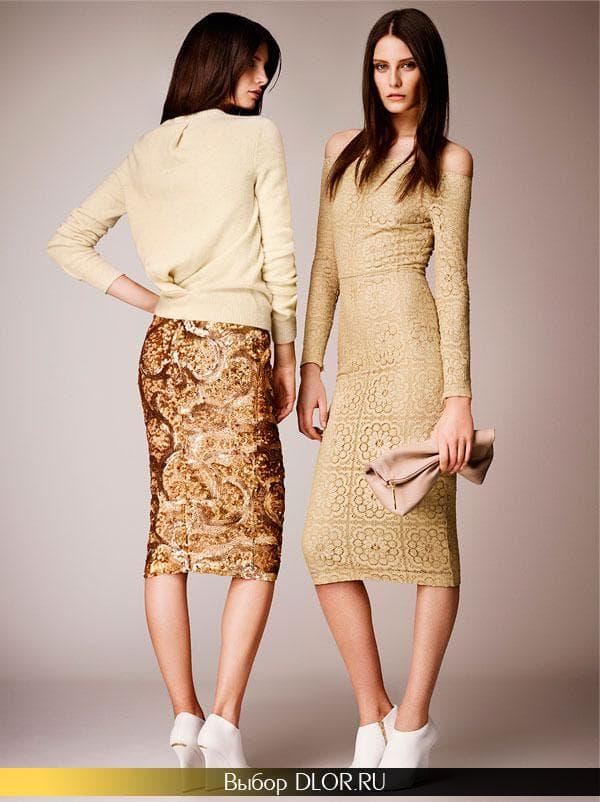 Фото шикарных гипюровых нарядов золотистого цвета
