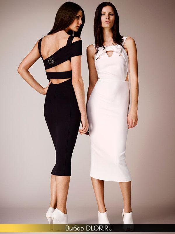 Фото платьев от Burberry с открытой спиной
