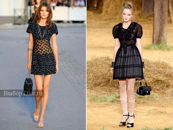 Оригинальные модели маленького черного платья с кружевом