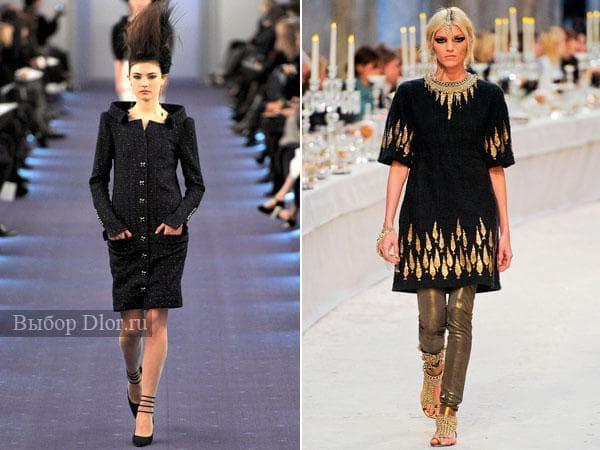 Черное платье от Chanel 2012