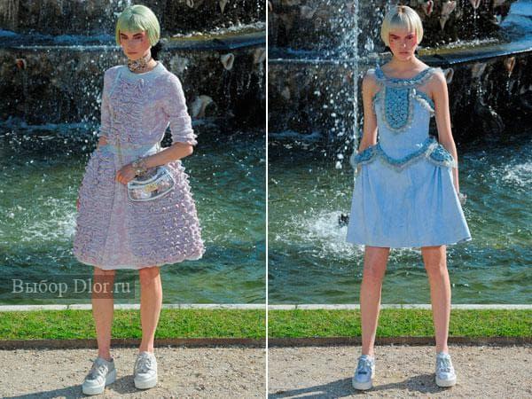 Летние вязаные платья и сарафаны от Шанель