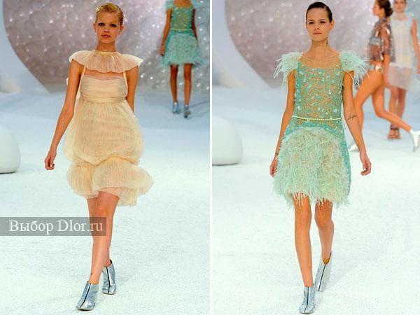 Летние шифоновые платья светлых оттенков