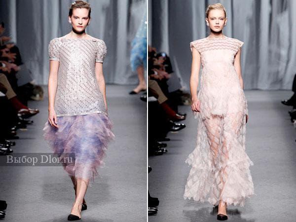 Оригинальные платья с пышной и прозрачной юбкой