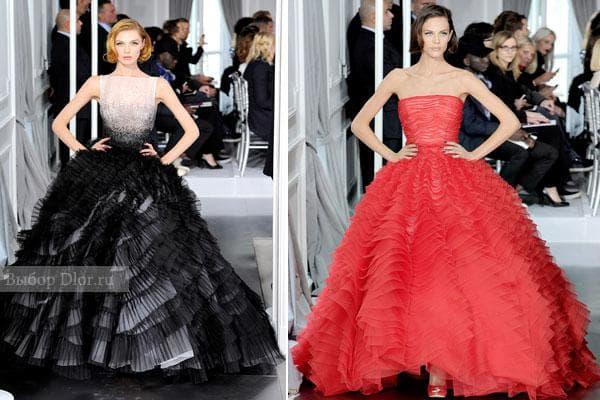 Пышные платья Dior - фото