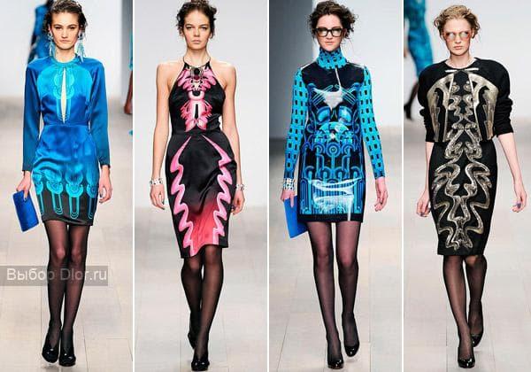Шелковые наряды классических фасонов