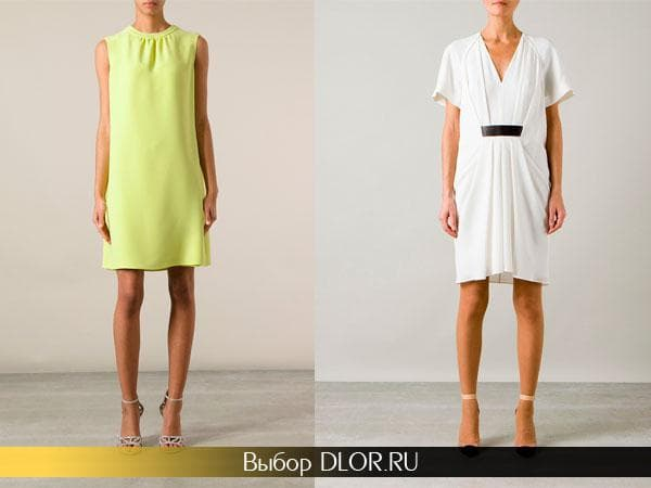 Салатовое и белое платье для девушек