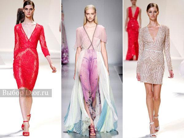 Летние модели платье и сарафанов с вырезом
