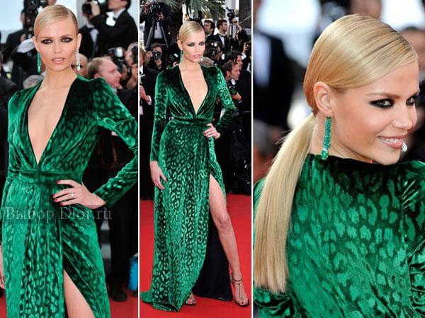 Элегантное зеленое платье на Наташе Поли