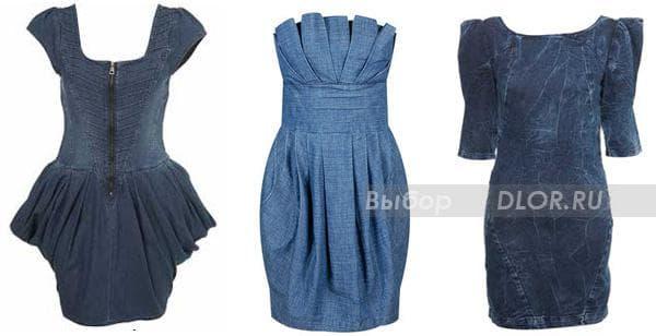 Джинсовые платья для офиса