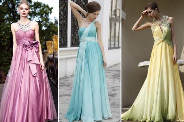 Модные фасоны вечерних платьев.