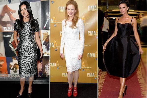 Деми Мур и Николь Кидман, Виктория Бэкхем в платьях Dolce&Gabbana