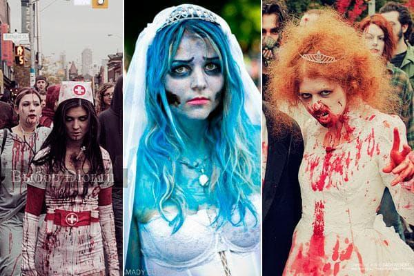 Костюмы зомби и мертвецов для праздника Хеллоуин