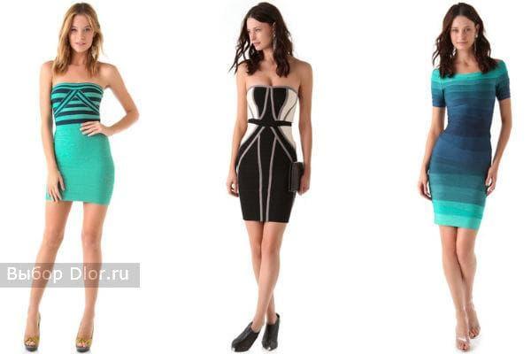 Стильные платья Herve Leger средней длины