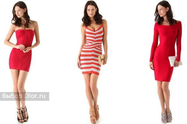 Модные платья в красном цвете