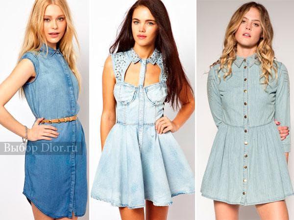 Джинсовые платья - фото