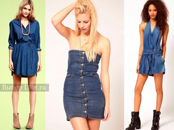 Фото джинсовых платье в ретро-стиле
