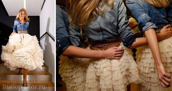 Свадебное джинсовое платье