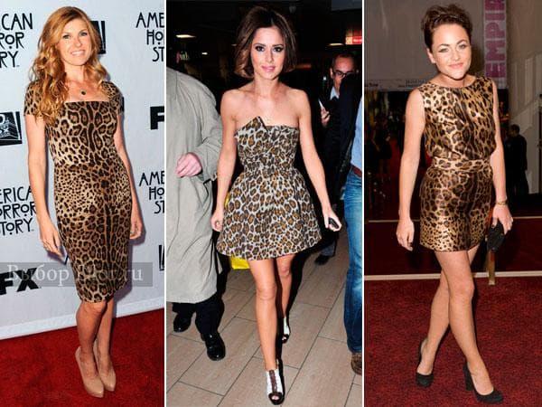 Фото коротких леопардовых платье