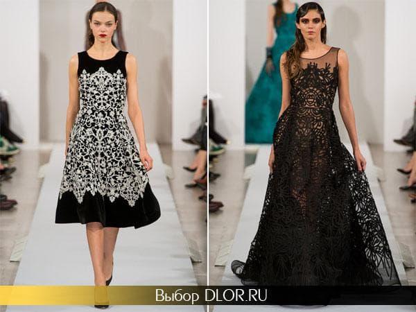 Нарядные гипюровые платья от  Oscar de la Renta