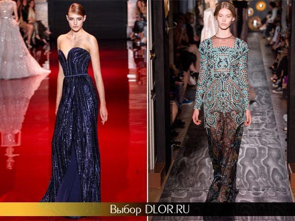 Облегающие длинные платья с вышивкой