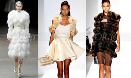 Элегантные платья с мехом