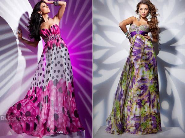Стильные платья с яркими принтами