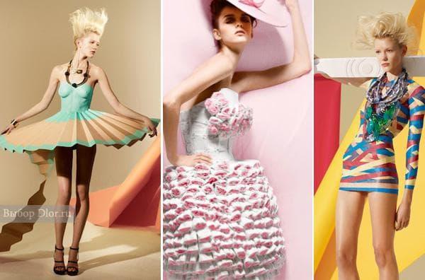 Оригинальные бумажные платья