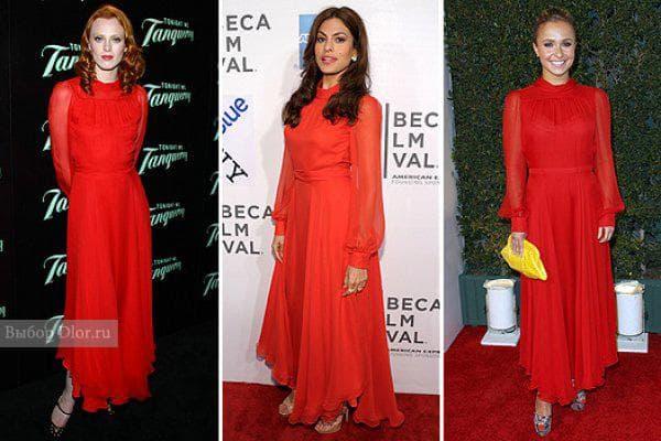 Звезды в платье Gucci: Ева Мендес, Карен Элсон и Хэйден Панеттьери