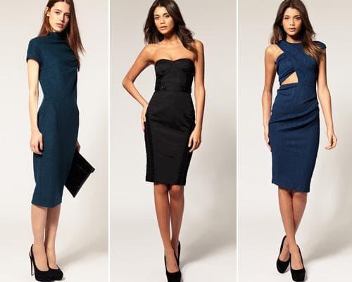 Синие и черное платье-фултяр