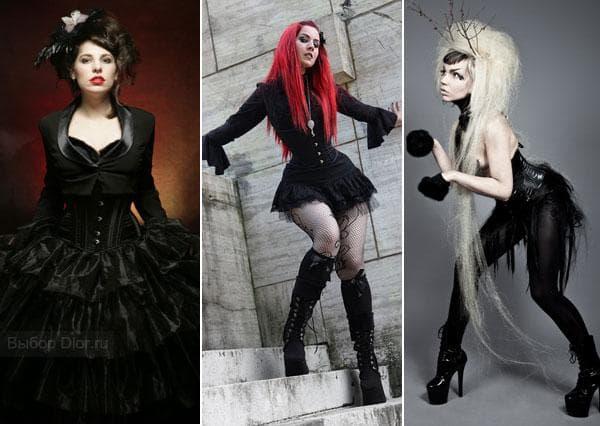 Короткие черные платья в готическом стиле