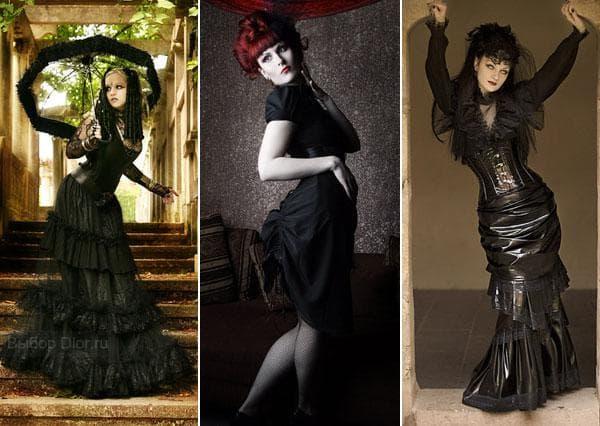Гипюровые вечерние платья в готическом стиле