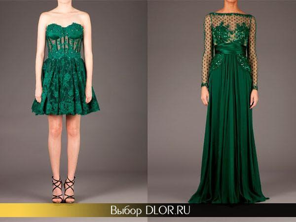 Короткое платье-бюстье и длинное украшенное кружевом