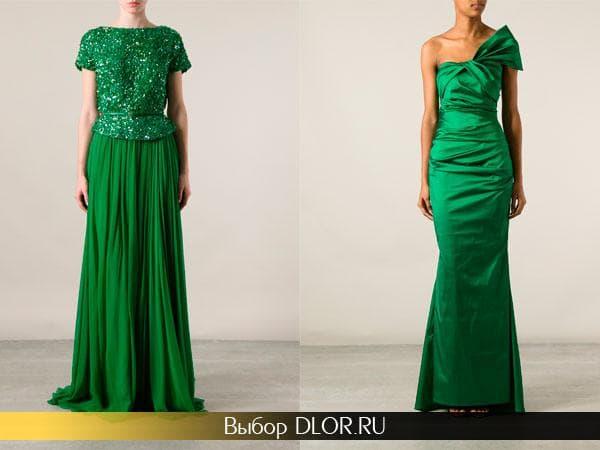 Длинные выпускные наряды зеленого цвета