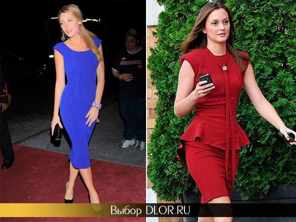 Синее платье Блейк Лавли и красное Лейтон Мистер