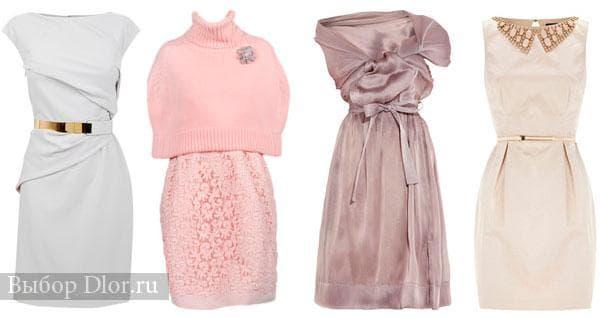 Вечерние платья в розовых и бежевых оттенках