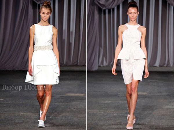 Вечерние белые платья на свадьбу
